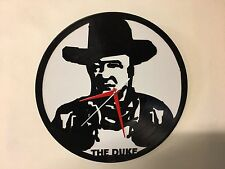 Repurposed Vinyl Record Clocks and Wall Art -  John Wayne The Duke