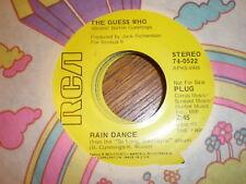 The Guess Who 45 Rain Dance PROMO RCA