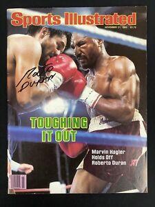 Roberto Duran Signed Sports Illustrated Mag 11/21/83 Boxing Auto Hagler PSA/DNA
