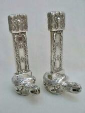Exceptional Pair of Antique Hallmarked Chinese Silver Turtle Form Peppers.
