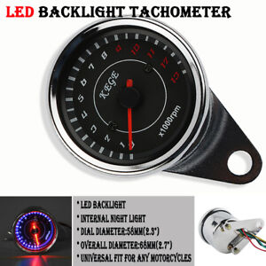 Motorcycle Backlight LED Tachometer Tacho Gauge 13000RPM Fit For Yamaha