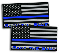Back The Blue Police Officer Sticker Decal USA Flag Line Lives Matter Car Truck