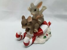 "Charming Tails Hard To Find ""Candy Cane Stocking Holder"" By Fitz & Floyd"