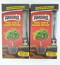 Lot of 2 Amdro Mole Vole & Gopher Blocker Stainless Steel Mesh 2 Per Box 5 Gal