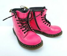 Dr. Doc Martens Youth Toddler Brooklee Boots Pink Patent Leather Air Wair US 9