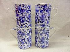 Set of 4 blue rose chintz china 10oz mugs