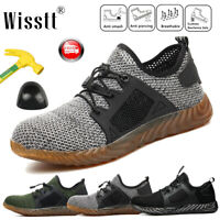 Men Safety Steel Toe Work Shoes Lightweight Sports Trainers Indestructible Boots
