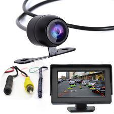 "Car Rear Forward Back View Backup Side Front Parking CCD Camera +4.3"" Monitor"