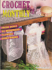 CROCHET MONTHLY No. 109  doily TABLECLOTH bedspred ~ butterfly