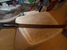 "VINTAGE 26"" MACHETE KATANA SWORD BLK WOOD HANDLE 20-1/2"" BLADE CAN'T READ MARK"
