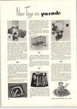 1955 PAPER AD Walt Disney Davy Crockett Alamo Fort Toy Construction Set