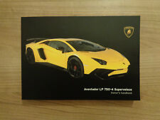 Lamborghini Aventador LP 750-4 Superveloce Owners Handbook/Manual