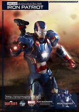 IRON PATRIOT 1/12 Iron Man Play Imaginative Super Alloy Diecast Action Figure US