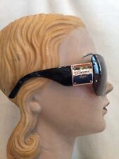 New CHOPARD Black & Gold Plaque Sunglasses SCH755 08FC