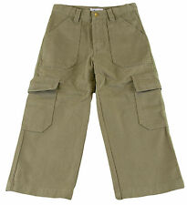JACADI Boy's Bolide Bronze Cotton Trousers Sz 4 Years $56 NWT