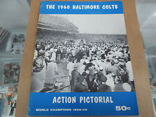 1960 Baltimore Colts Action Pictorial Johnny Unitas, Raymond Berry