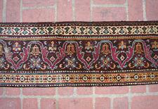 A 19th Century Seven Feet Long Antique Agra Border Rug Fragment