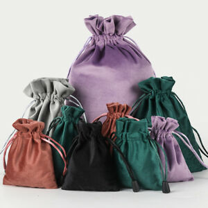 1pc Velvet Drawstring Gift Bags Wedding Jewellery Party Pouch Bag Storage Pouch