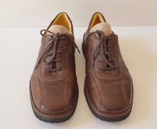 CLARKS Mens 10 Brown Leather Bicycle Toe Lace-Up Oxford Shoes