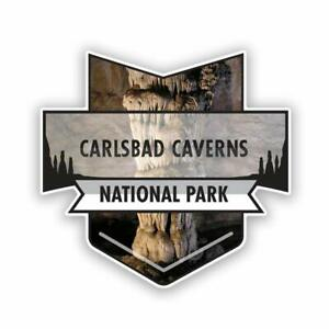 2-Pack Carlsbad Caverns National Park Decal Sticker | 4.7-Inches by 4.4-Inch