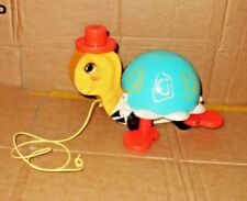 Old Vintage wooden Tortoise Turtle Fisher Price Pull Along 1962 USA