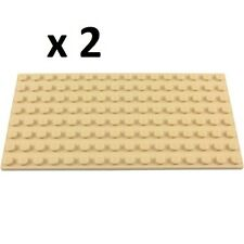 LEGO Baseplate TAN 8x16 (x2) Disney Friends Modular Ninjago Minecraft Olivia