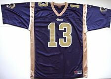 Men's VINTAGE NIKE ST. LOUIS RAMS #13 KURT WARNER JERSEY size large L