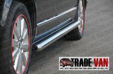 VW t4 TRANSPORTER VAN CARAVELLE CHROME barre laterali in acciaio inox passi LWB NUOVO