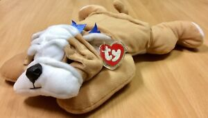 Ty Pillow Pals - Bruiser The British Bulldog - New With Tags