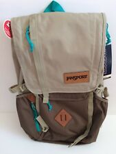 "NWT JanSport Outdoor Hatchet 15"" Laptop/3L Hydration Backpack-Brown/Teal"