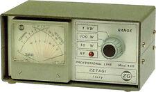Zetagi 430 medidor de potencia SWR 120-500 MHz