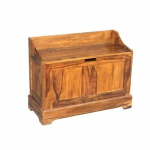 Wooden Storage Seat Small Size made from high quality Shessham Wood