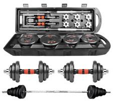50KG/110LB Weight Dumbbell Set Adjustable Fitness GYM Home Cast Full Set