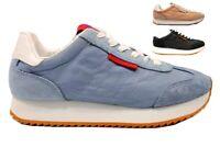 Calvin Klein Jeans COLETTE NYLON R8820 Celeste Rosa Donna Sneakers da Passeggio