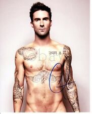GAY INT SHIRTLESS ADAM LEVINE SIGNED PHOTO