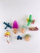 Mixed Lot 8 Vintage Doll house Miniatures Trolls Airlpanes Toys Metal Car Elvis