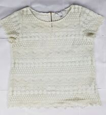 Forever New Womens Crochet Lace Shirt Size 12 Aus White