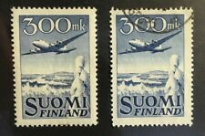 Finland, Scott's #C3 airmail, mint OG and used
