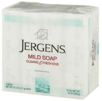 Jergens Mild Soap Cleans - Freshens 4 bars, 4.5 oz (Pack of 2)