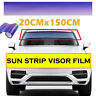 20CMx150CM Purple Sun Visor Tint Strip Film Car Windshield UV Shade DIY Banner