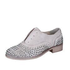 scarpe donna ONAKO' 39 EU classiche grigio pelle borchie BZ629-F