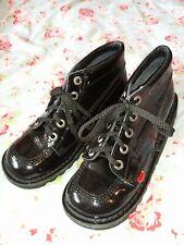 Kickers Kick Hi Boot Patent Small  6 39