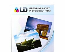 "LD Glossy Inkjet Photo Sticker Paper Size 8"""" x 11"""" 100 Pcs Monos"