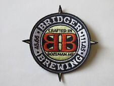 Cool Beer Fabric Patch ~ BRIDGER Brewing Co ~ Bozeman, MONTANA Breweriana