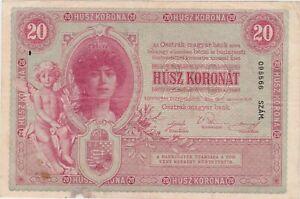 AUSTRIA HUNGARY 20 KRONEN  KORONAT 1900 F