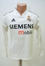 REAL MADRID SPAIN 2004/2005 HOME FOOTBALL SHIRT ADIDAS XS ADULT LONG SLEEVE