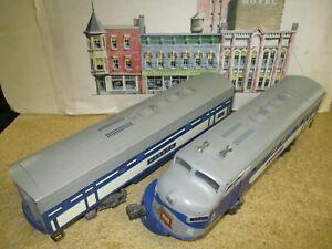VINTAGE 1956 LIONEL O GAUGE No. 2240 Wabash Locomotive & Dummy Unit~TESTED RUNS