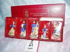"""Nib, """"The Christmas Ornament Collectors Club Porcelain Caroler Bells"""","""