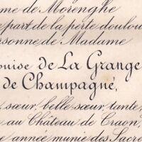 Marie Ernestine Julie Louise Loys De La Grange De Champagné 1882