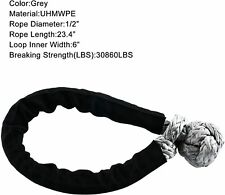 """Soft Synthetic Shackle Rope 1/2"""" Tow Recovery Strap 30860LBS Offroad Winch Ropes"""
